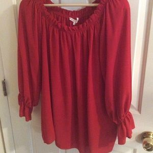 Violet and Clair red loose top